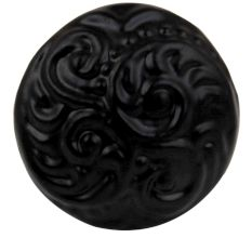 Black Floral Iron Cabinet Knob