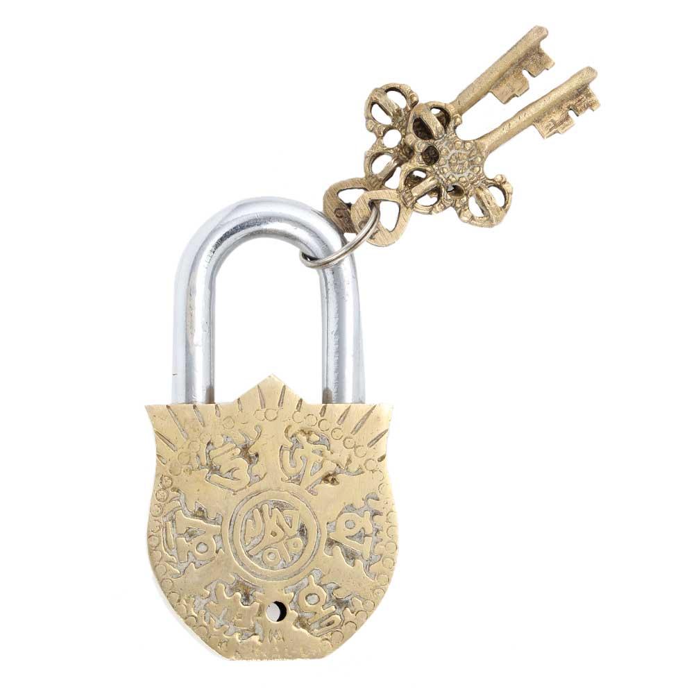 Lovely Bird Figurine Design Brass Padlock With 2 Keys