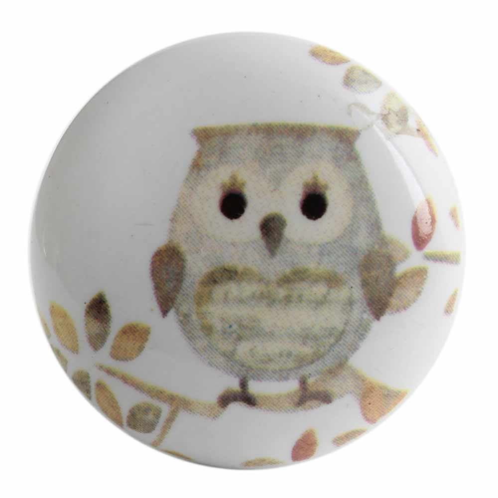 Mixing Color Owl Ceramic Flat Wine Bottle Stopper