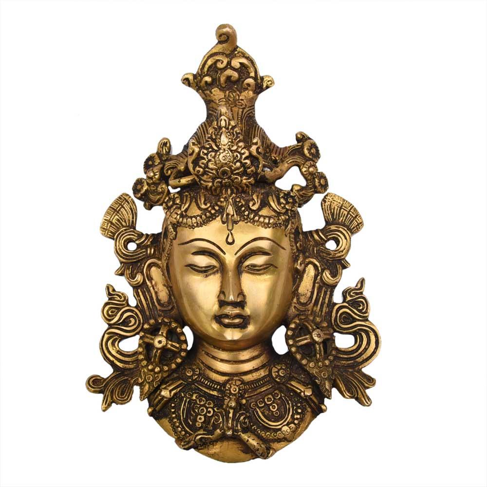 Handmade Tara Buddha Face Brass Wall Hanging