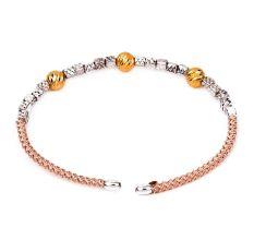 92.7 Sterling Silver Seed Beads Gold Plated Adjustable Kada Bracelet
