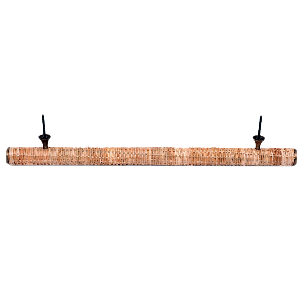Natural Large Round Rattan Cabinet Handles 18