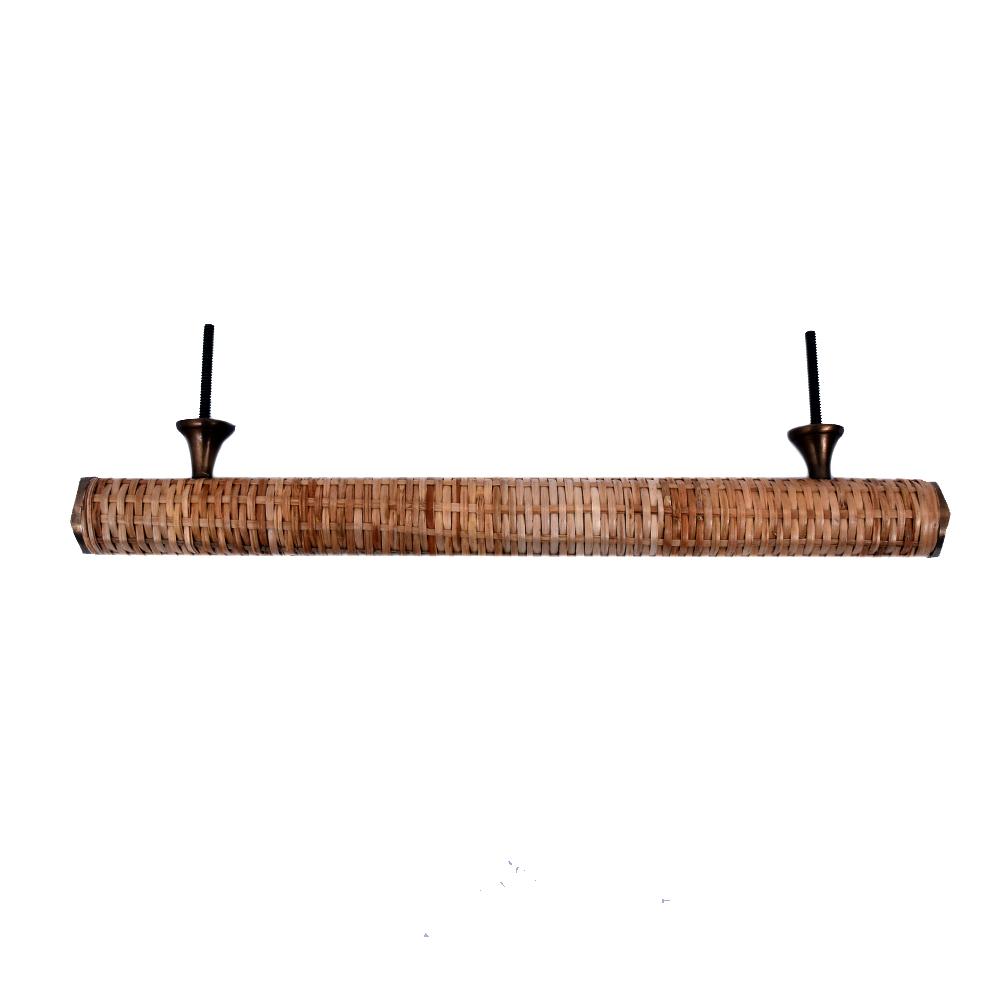 Natural Long Round Rattan Cabinet Handles 12