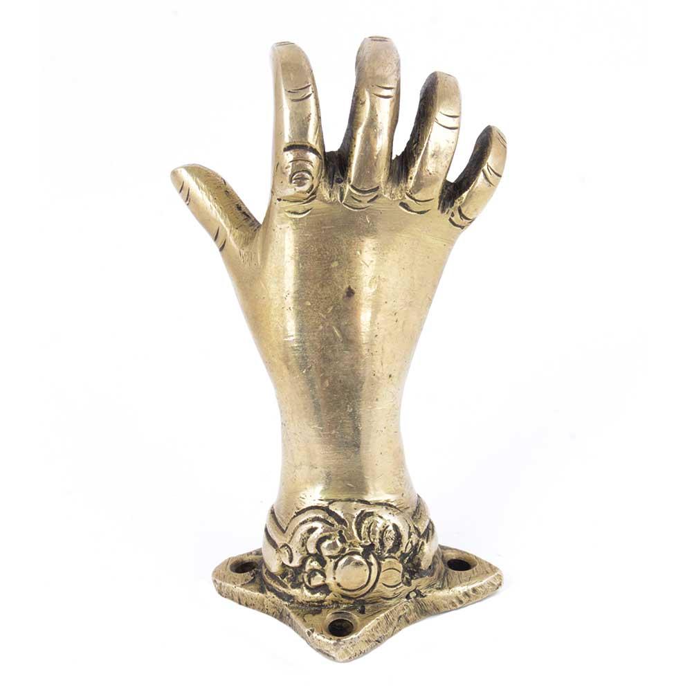 Handmade GoldenBrass  Door Pull Or Door Handles Mudra Hands