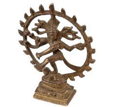 Handmade Brown Brass Nataraja Lord Shiva Statue