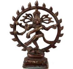 Handmade Brown Brass Natraja Dancing Idol