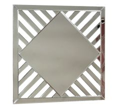 Handmade Silver Venetian Mirror Square Design For Walls