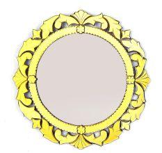 Handmade Golden Frame Round Venetian Mirror