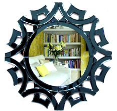 Handmade Black Artwork Venetian Mirror Modern Decor Art