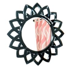 Handmade Black Geometrical Shaped Venetian Mirror