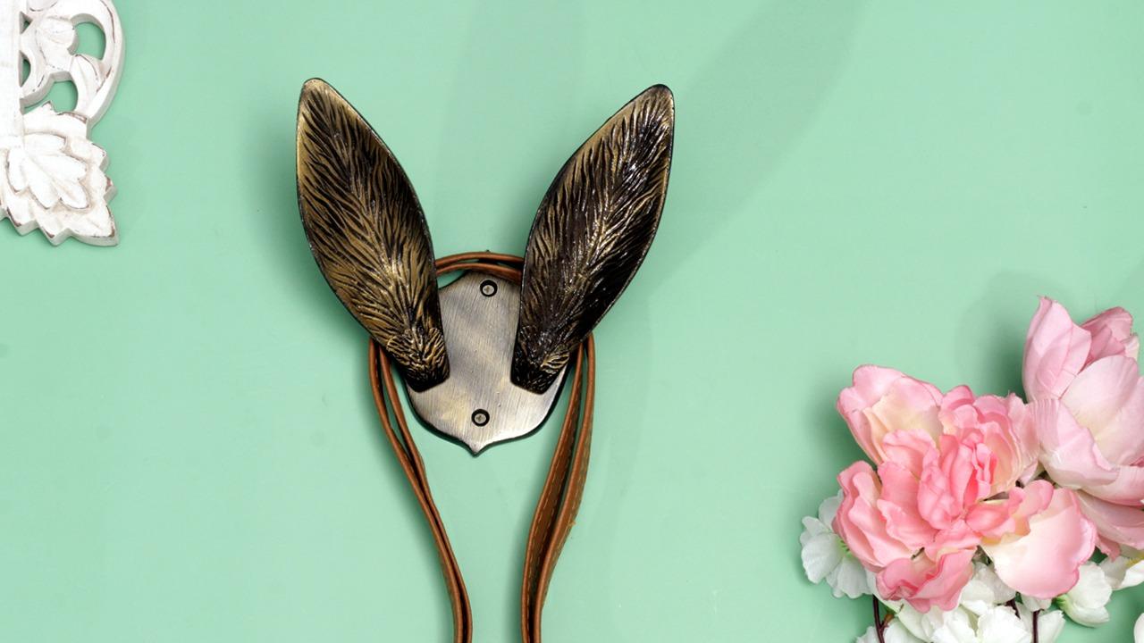 Rabbit Ear Aluminum Decorative Hook