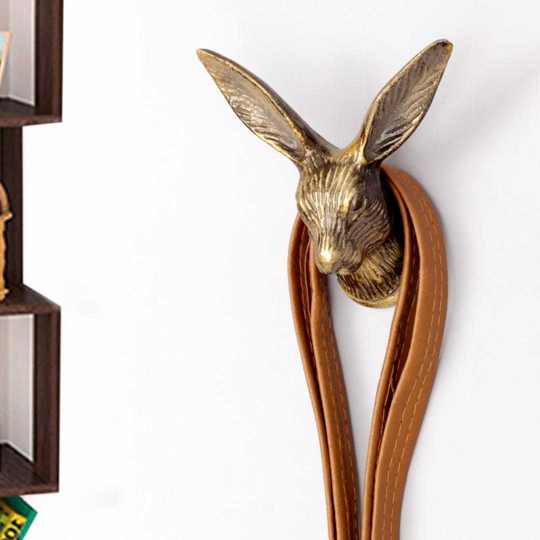 Decorative Rabbit Face Aluminum Hooks
