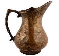 Handmade Brown Brass Tribal Design Pitcher Water Jug