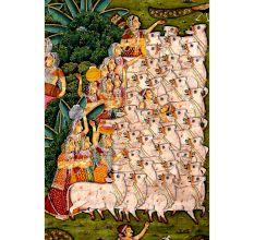 Vintage Pichwai Paintings 8 feet long 6 feet wide Hand Painted