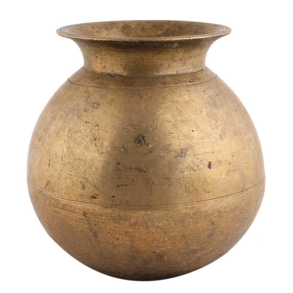 Handmade Golden Brass Water Pot Pooja Lota