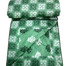 Living  Concept Green Floral Reversible Light Weight Double Bed Dohar