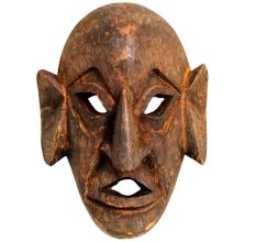 Handmade Wooden Tribal Face Mask Wall Hanging