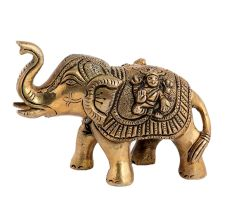 Elephant With Figure Laxmi & Ganesha Small