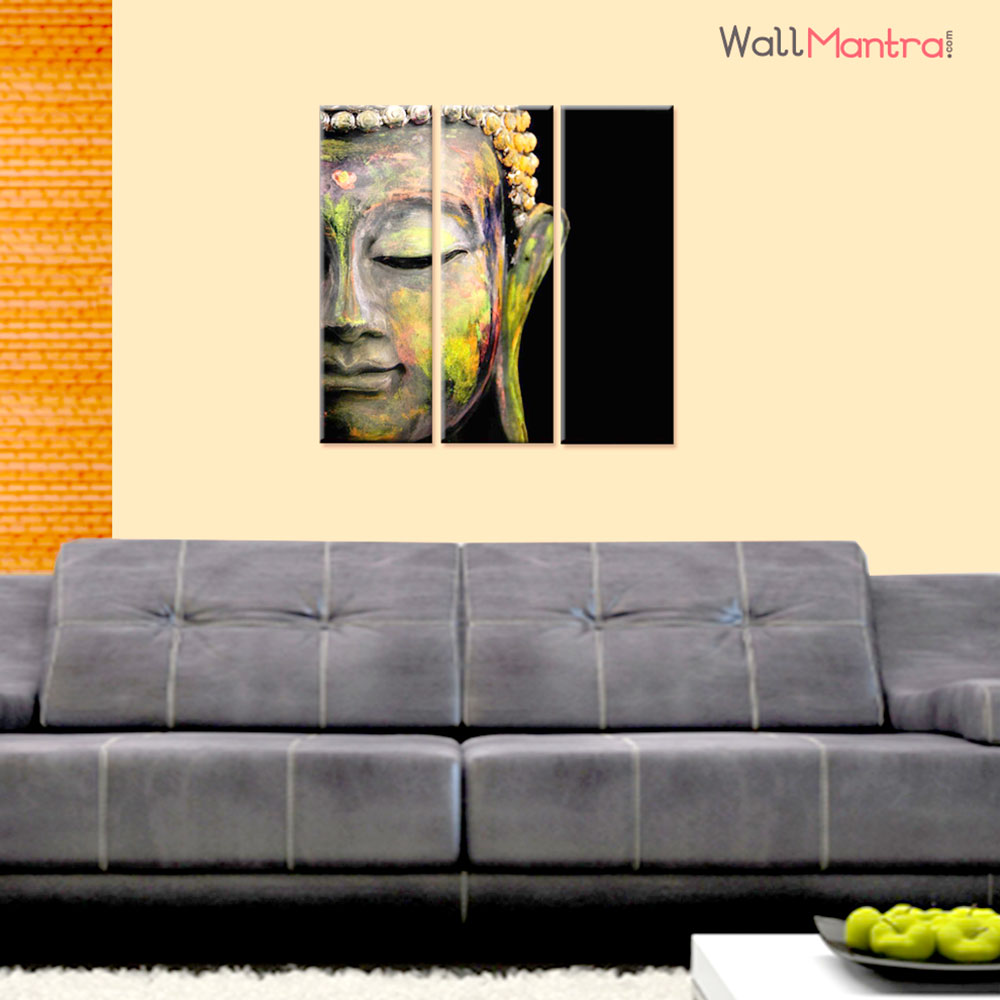 Lord Buddha Vastu Premium Quality Canvas Wall Hanging