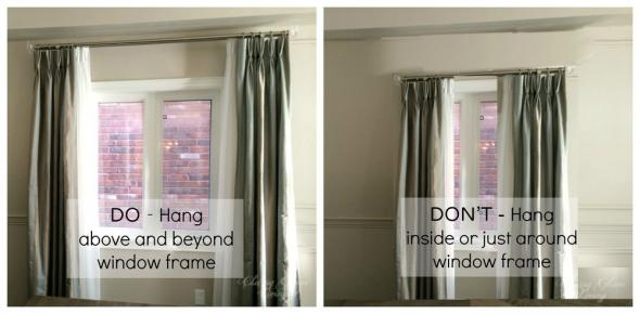 Curtain Hanging how to hang curtains the right way